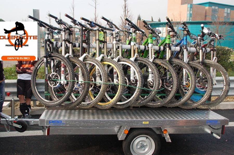 Portabiciclette per rimorchio due ruote forl - Carrello per bici porta cani ...